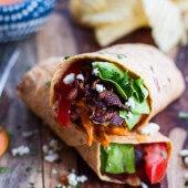 Buffalo Chicken + Avocado BLT Wraps.-1