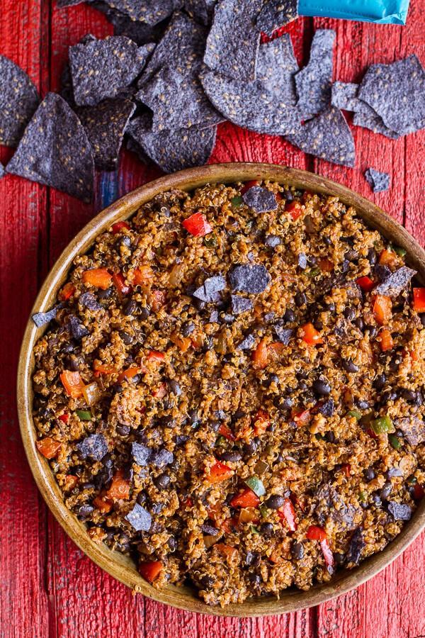 Cheesy Black Bean + Quinoa Taco Bake | halfbakedharvest.com