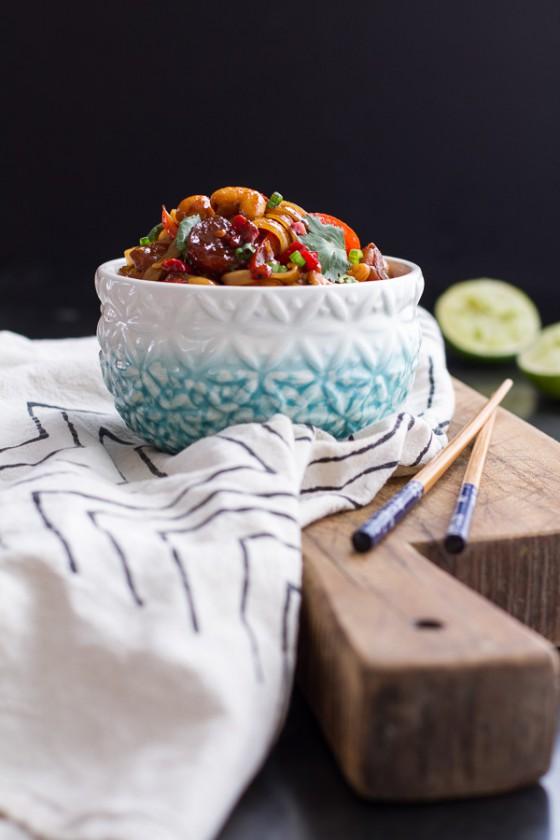 Chilli Cashew Shrimp Noodles.-1