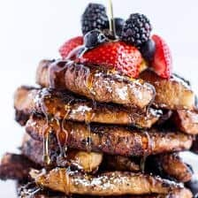 Coffee Caramelized Croissant French Toast Sticks.