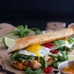 Mahi Mahi Banh Mi with Spicy Curried Mayo + Fried Eggs.