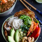 Vietnamese Chicken, Avocado + Lemongrass Spring Roll Salad With Hoisin Crackers-2