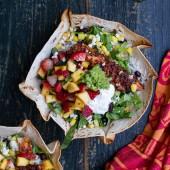 Chipotle Mahi Mahi Burrito Bowls w- Coconut Lime Rice + Strawberry-Mango Salsa.-2