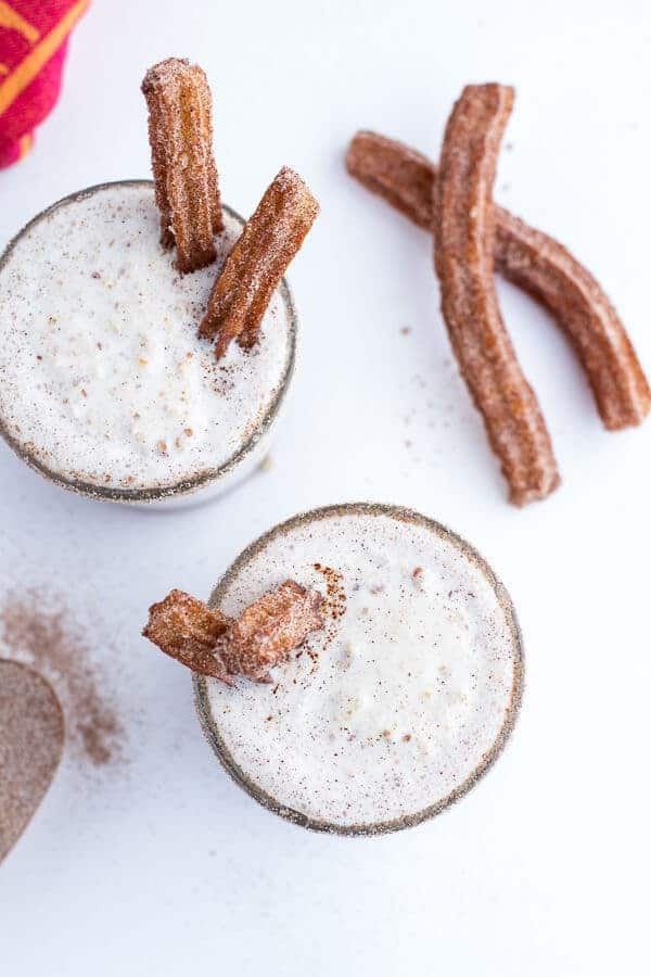 Churro Milkshakes with Dulce de Leche | halfbakedharvest.com