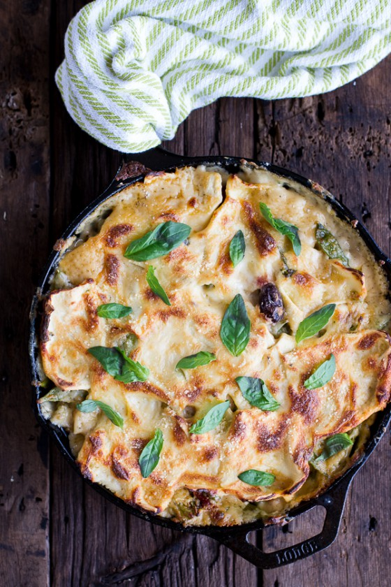 Quick and Simple Springtime Skillet Lasagna with a Mediterranean Kick.-1