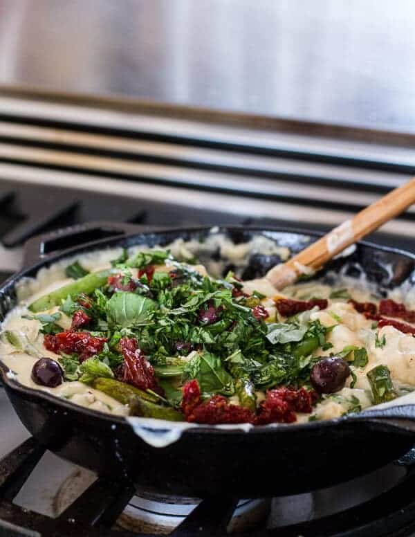 Quick and Simple Springtime Skillet Lasagna with a Mediterranean Kick | halfbakedharvest.com
