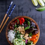 "Vietnamese ""Shaken"" Beef Bowl with Hoisin Sauce."