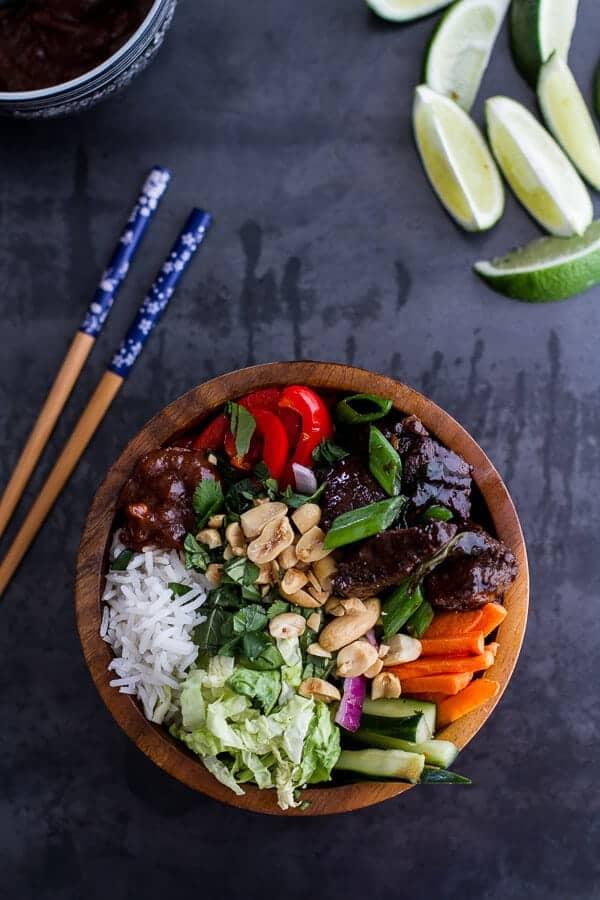 Vietnamese Shaken Beef Bowl with Hoisin Sauce | halfbakedharvest.com @hbharvest