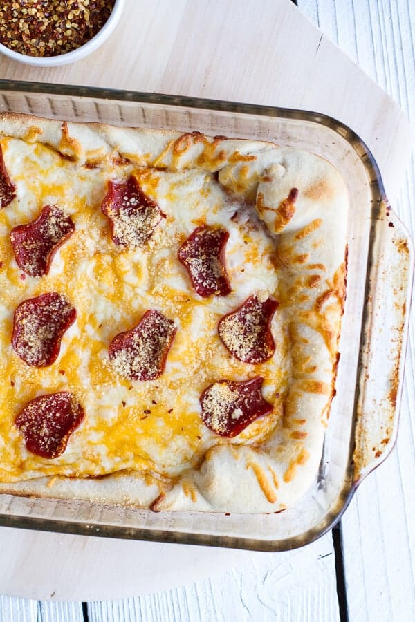Deep Dish Pizza Casserole.