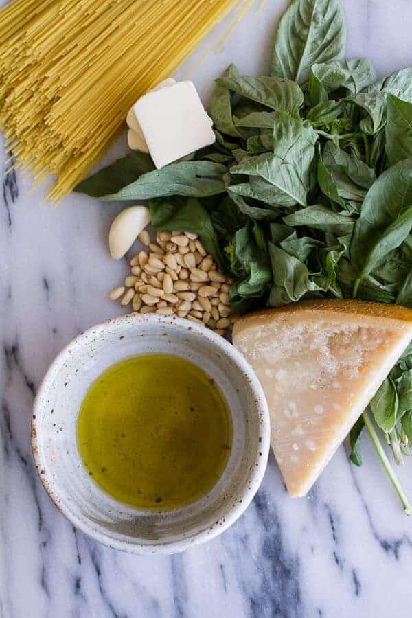 20 Minute Brown Butter Chunky Basil Pesto Pasta | halfbakedharvest.com
