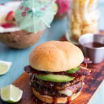 Aloha Burgers with Island Jerk Pineapple.