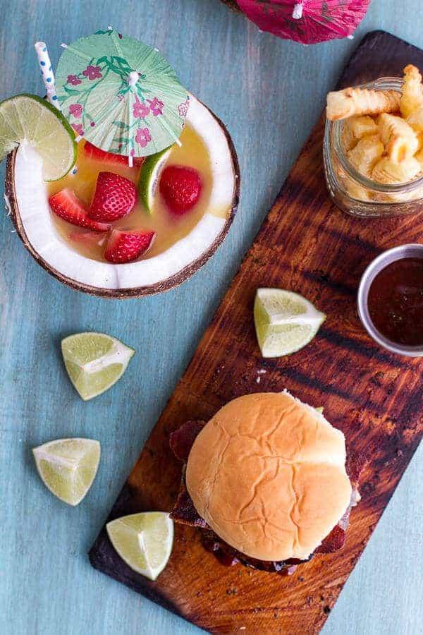 Aloha Burgers with Island Jerk Pineapple | halfbakedharvest.com