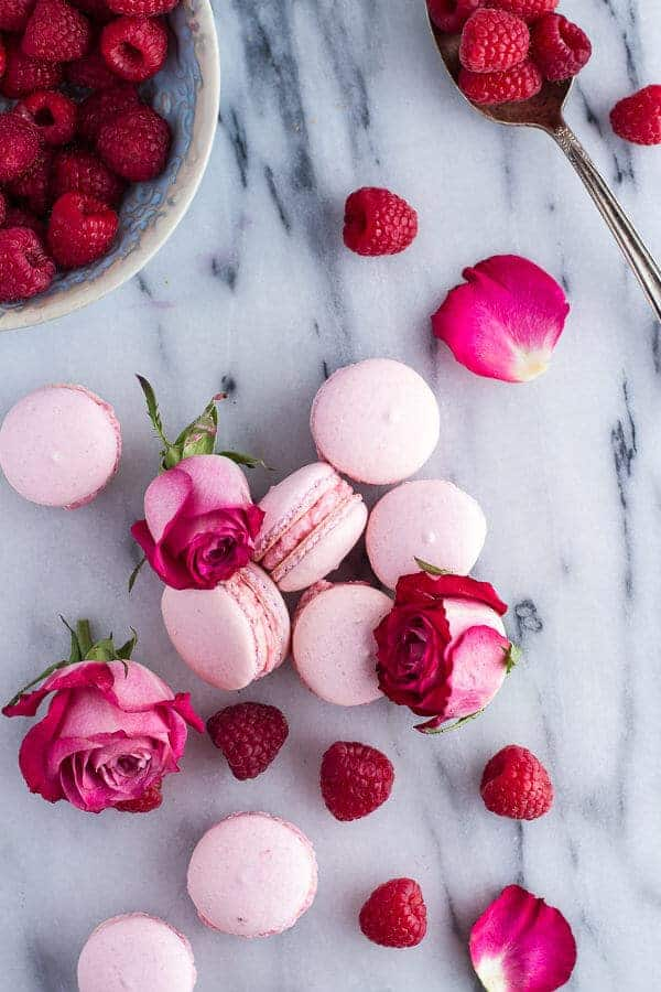 French Macaroons With Raspberry-Rose Buttercream Recipes — Dishmaps