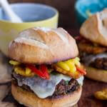 Cuban Black Bean and Rice Mojo Burgers with Slaw + Garlic Tostones.-1