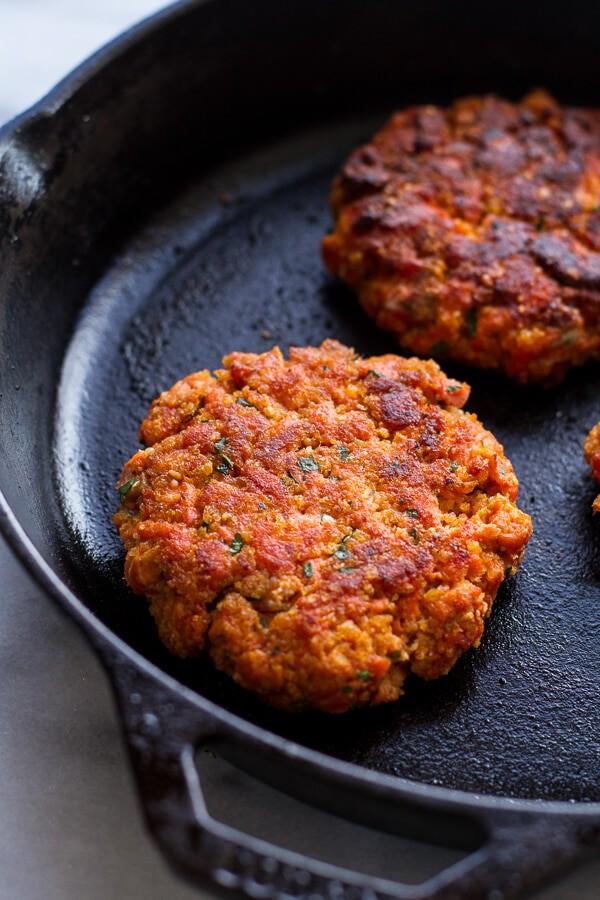 Curried Salmon Burger Lettuce Wraps w-Crispy Sweet Potato Straws + Goat cheese | halfbakedharvest.com