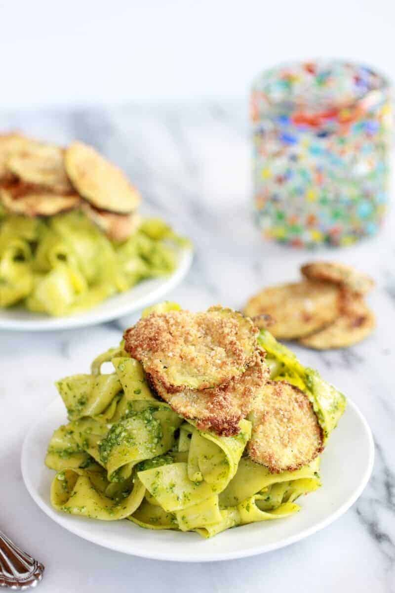 Fried-Zucchini-and-Mint-+-Pistachio-Pesto-Pappardelle-Pasta-1