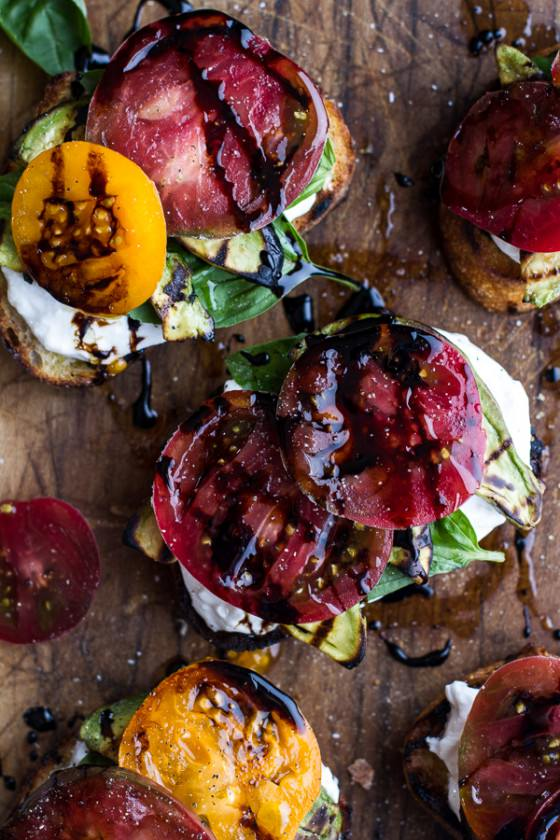 Grilled Caprese Toast with Burrata Cheese + Grilled Avocados-1