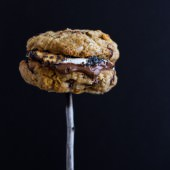 Oatmeal Chocolate Chip + Graham Cracker Cookie S'mores. -1