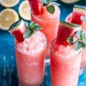 Pink Watermelon Lemonade Slushies.-1