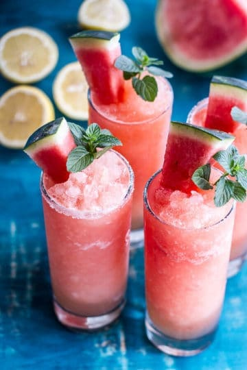 Pink Watermelon Lemonade Slushies.