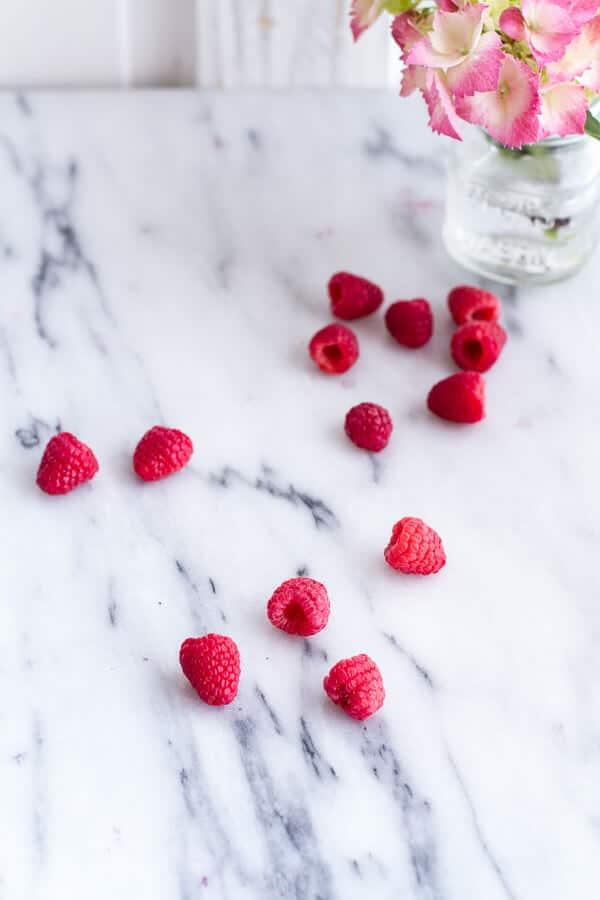 Raspberry-Rhubarb Bellini Smoothie w- Blueberries (Virgin...or not so Virgin) (VIDEO) | halfbakedharvest.com