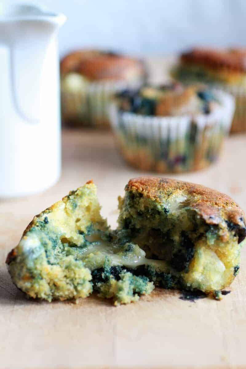 Roaste-Blueberry-and-Brie-Cornbread-Muffins-with-Warm-Honey-Butter-8