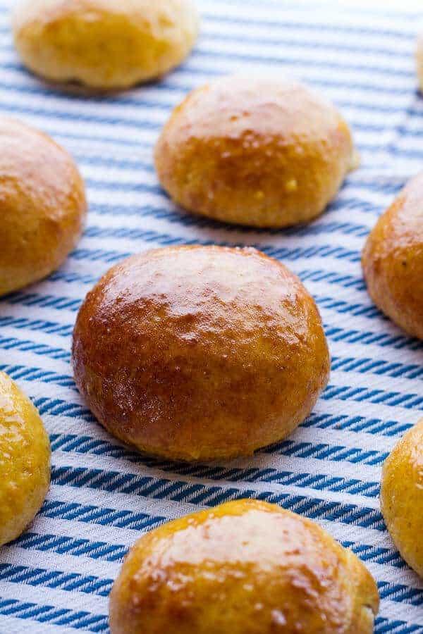 Salted Honey Butter Cornbread Brioche Burger Buns | halfbakedharvest.com