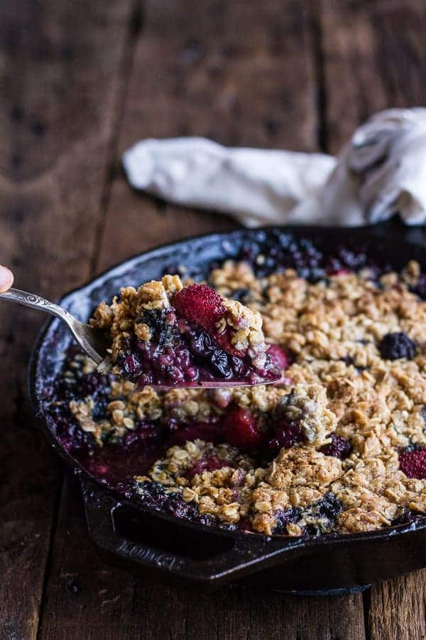 Triple Berry Kahlua Crisp with Double the Crumble | halfbakedharvest.com