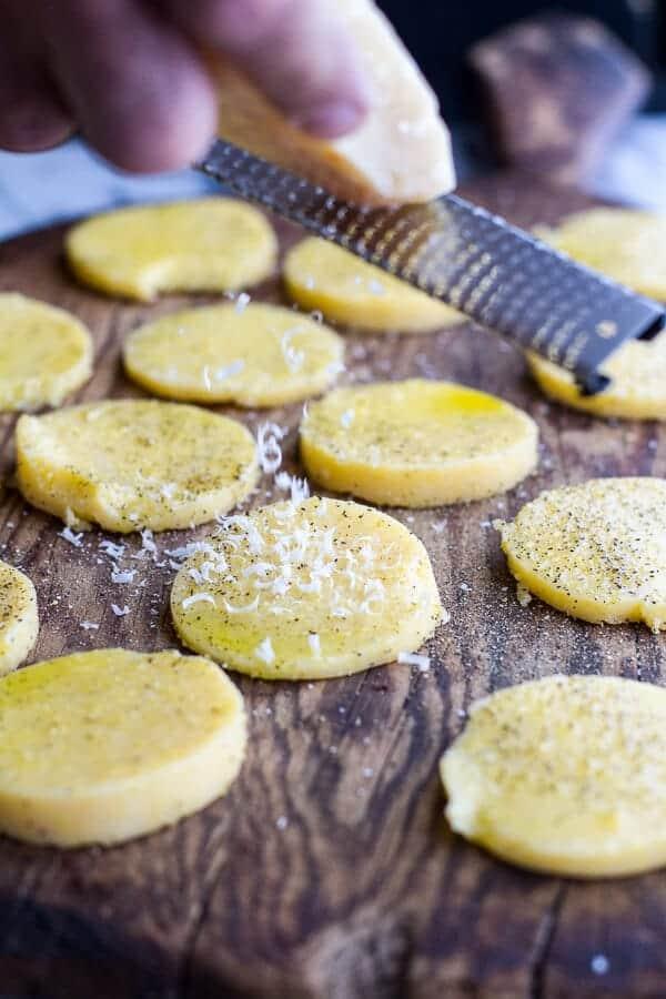 Grilled Parmesan Polenta Chips | halfbakedharvest.com