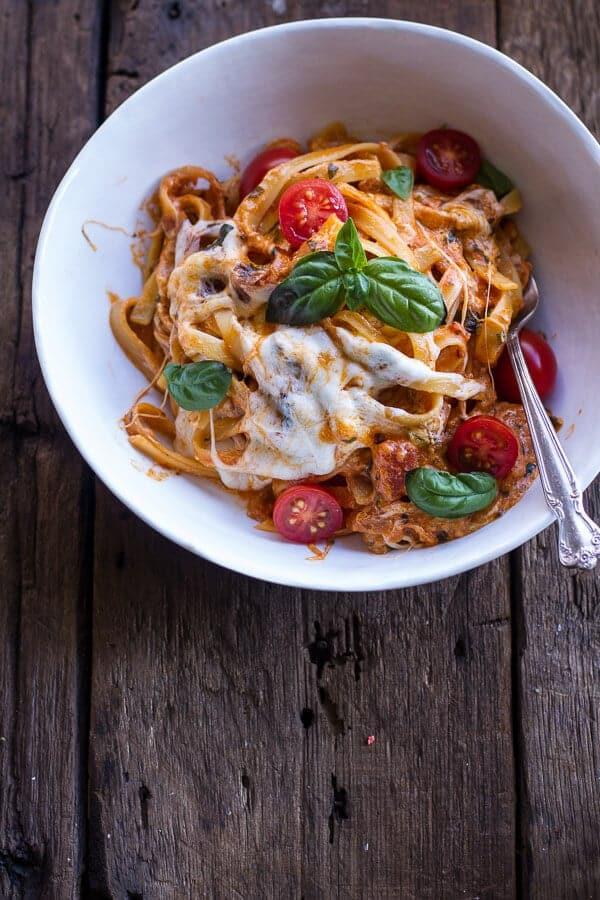 One Pot 30 Minute Creamy Tomato Basil Pasta Bake | halfbakedharvest ...