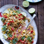 Summer Grilled Mexican Street Corn Quinoa Salad.