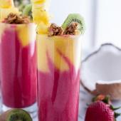 Tropical Fruit Breakfast Smoothie.-1