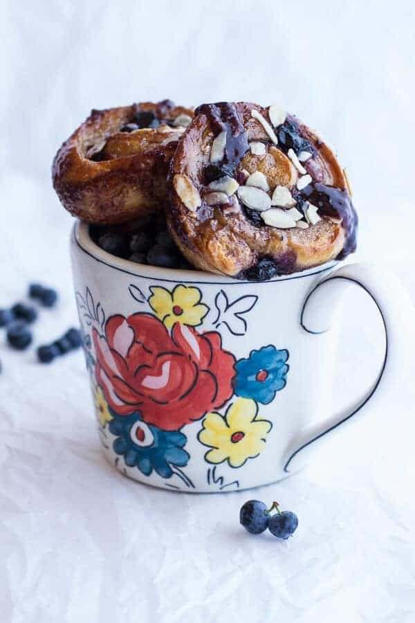 Vanilla Bean Blueberry Lemon + Cream Cheese Swirl Sticky Buns | halfbakedharvest.com