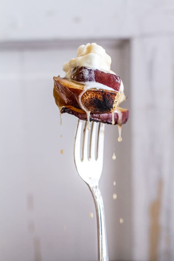 Brown Sugar Peaches and Cream Grilled French Toast. - Half ...