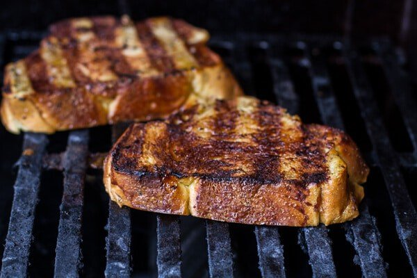Brown Sugar Peaches and Cream Grilled French Toast | halfbakedharvest.com