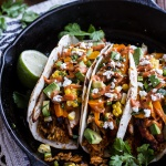Easy Chicken Fajitas with Cheesy Enchilada Rice + Spicy Tex-Mex Special Sauce.
