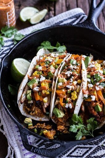 Easy Chicken Fajitas with Cheesy Enchilada Rice + Spicy Tex-Mex Special Sauce | halfbakedharvest.com @hbharvest