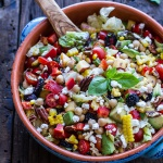 Easy Summer Herb and Chickpea Chopped Salad with Goat Cheese.-1
