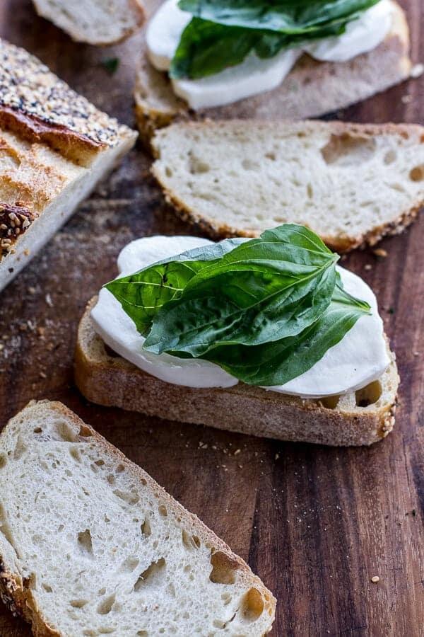Mozzarella in Carrozza (Fried Mozzarella Sandwich) w-Blueberry Balsamic Jam | halfbakedharvest.com
