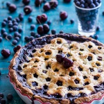 Vanilla Bourbon Cherry-Blueberry Pie.