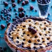 Vanilla Bourbon Cherry-Blueberry Pie. -1