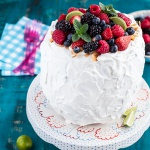 Fresh Watermelon Cake with Summer Berries + Links to inspire.