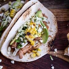 Crockpot Enchilada Pork Tacos w/Sweet Corn Slaw + Links to Inspire.