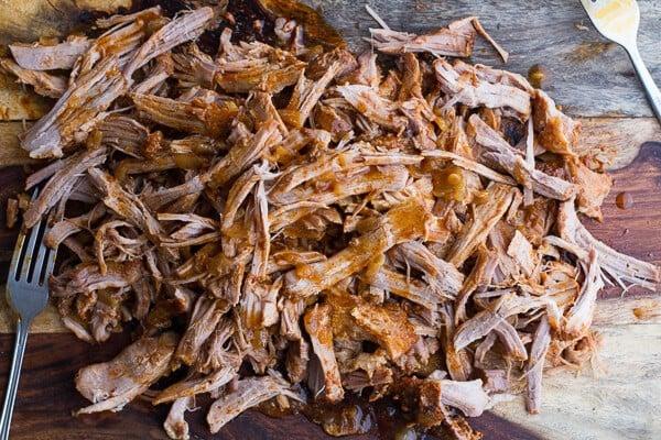 Crockpot Enchilada Pork Tacos w/Sweet Corn Slaw | halfbakedharvest.com @hbharvest