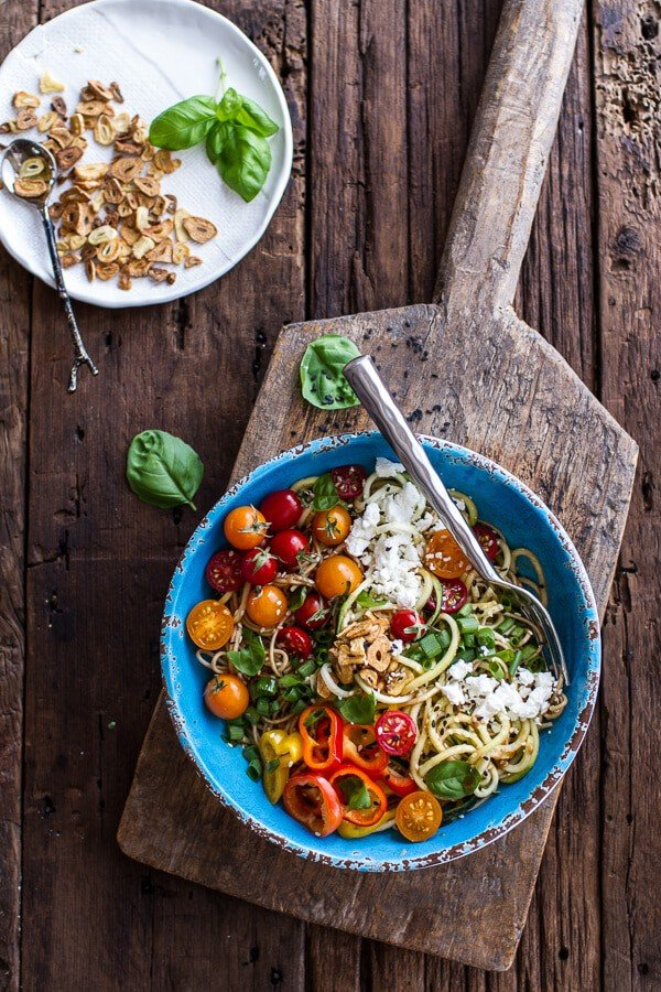 Farmers Market Sesame Miso Noodle Bowls with Garlic Chips ...