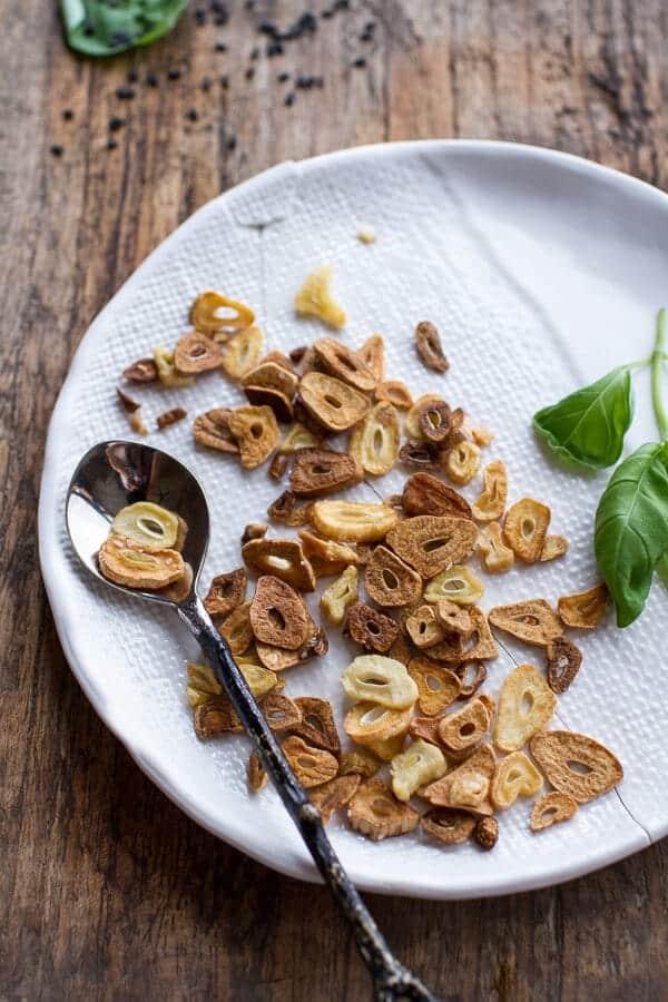 Farmers Market Sesame Miso Noodle Bowls with Garlic Chips | halfbakedharvest.com @hbharvest
