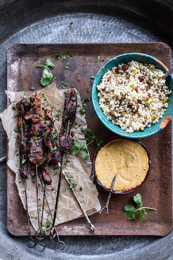 Indian Style Beef Satay with Curried Cashew Sauce | halfbakedharvest.com @hbharvest