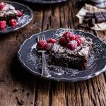 Magic Gooey Chocolate Meringue Texas Sheet Cake.