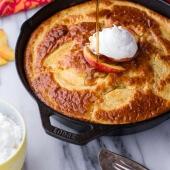 Make Ahead Peaches and Cream Breakfast Bake-1