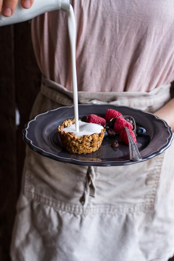 Oatmeal Chocolate Chip Cookie 'n' Milk Breakfast Cups-11